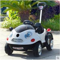 儿童电动车四轮摇摆汽车男女婴儿宝宝可坐遥控玩具车带手推杆早教