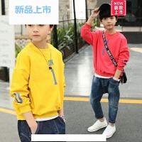 男童长袖T恤2018春装新款儿童圆领打底衫韩版中大童小男孩上衣潮