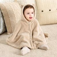 KUB可优比 外出服夹棉斗篷均码 秋冬宝宝小童加绒斗篷披风婴儿加厚卡通外出披肩0-3岁