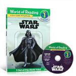 【发顺丰】英文原版绘本 星球大战 level 1 World of Reading Star Wars Listen-
