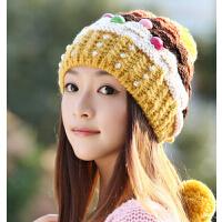 时尚针织秋冬季女帽冬天韩版潮可爱冬季女士毛线帽子