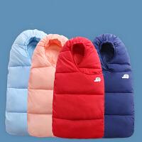 儿童运动婴儿羽绒棉睡袋儿童防踢被新生儿宝宝抱被襁褓被子外出包被加厚