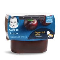 美国嘉宝GERBER1阶段一段西梅泥宝宝辅食泥婴儿果泥6月+3组装