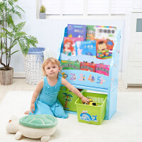 【一件五折 年终回馈】门扉 儿童书架 卡通玩具收纳架宝宝塑料整理柜 幼儿园绘画本储物柜