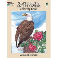 【预订】State Birds and Flowers Coloring Book