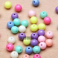 8mm实色圆珠串珠diy珠子玩具散珠亚克力糖果色彩珠手串项链手穿珠创意手工串珠子材料包