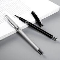斑马ZEBRA金属中性笔低重心商务签字笔重手感金属磨砂笔杆学生用0.5水笔C-JJ4礼品笔