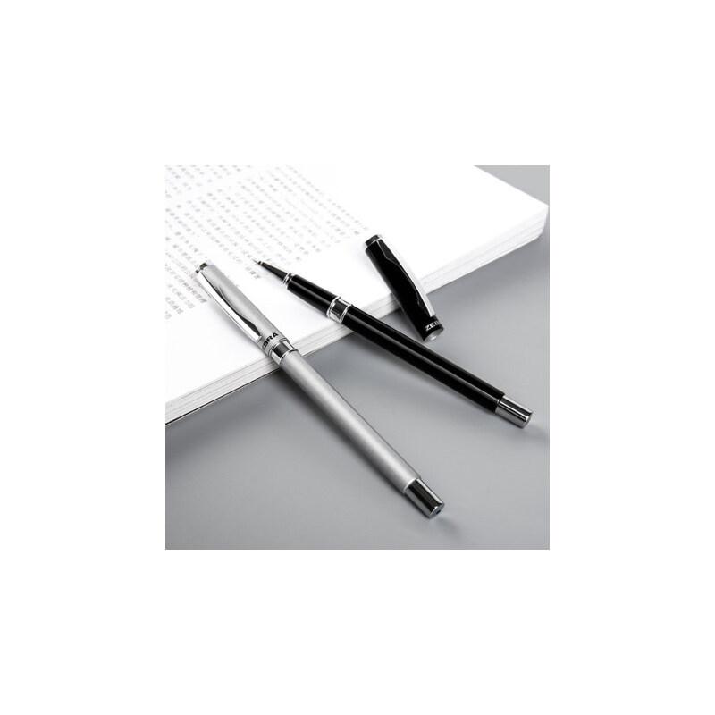 斑马ZEBRA金属中性笔低重心商务签字笔重手感金属磨砂笔杆学生用0.5水笔C-JJ4礼品笔 金属笔杆 握感舒适 书写黑色