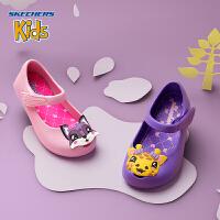 Skechers斯凯奇女童鞋新款凉鞋休闲鞋 玛丽珍小童休闲鞋 86771N