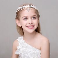 儿童头饰额头链额饰女童礼服配饰冠头饰女童发饰 白色
