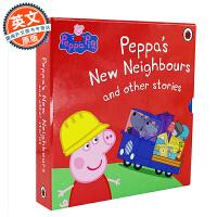 小猪佩奇和她的邻居们 英文原版 Peppas New Neighbours Other Stories 儿童绘本故事5