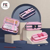 小学生笔袋女一二三四五六年级女孩简约大容量铅笔盒多功能文具盒