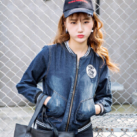 哆哆何伊新款牛仔外套女短款时尚百搭牛仔棒球服韩版休闲夹克上衣
