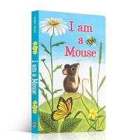 英文原版 I am a Mouse 我是一只鼠仔 儿童英文启蒙早教 I am a bunny 同系列 大自然认知 小动