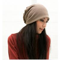 帽子女秋冬天 街舞嘻哈帽包头帽 韩版潮套头帽头巾帽 双层薄帽休闲帽