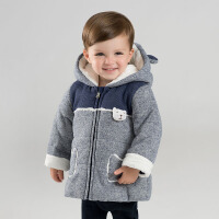 【加厚】davebella戴维贝拉冬季新款男童棉衣宝宝连帽棉服DBM8913