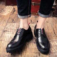 DAZED CONFUSED秋季潮鞋布洛克雕花男鞋英伦厚底增高男士时尚百搭休闲发型师皮鞋
