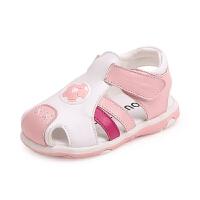 夏季宝宝凉鞋男女婴儿包头鞋子儿童学步鞋