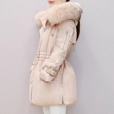 【限时抢购 到手价:249】雅鹿时尚女装 韩版修身显瘦中长款羽绒服女 连帽冬装外套