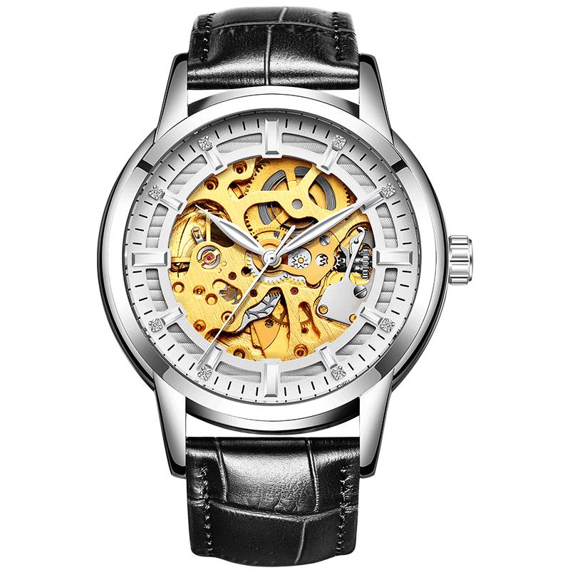 手表男机械表男士炫酷双面镂空夜光机械手表运动学生男手表 发货周期:一般在付款后2-90天左右发货,具体发货时间请以与客服协商的时间为准