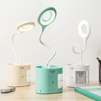 充电宝笔筒台灯充电护眼书桌大学生LED宿舍卧室床头女