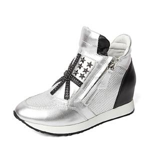 Teenmix/天美意专柜同款牛皮革女皮靴2AL59DD5 专柜1
