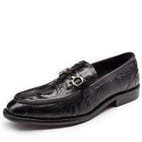 DAZED CONFUSED 欧美风格鳄鱼纹男士皮鞋鞋男鞋商务休闲鞋男帆船鞋
