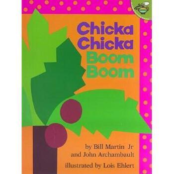 【现货】英文原版儿童书 Chicka Chicka Boom Boom 叽喀叽喀碰碰 (名家绘本)国营进口!品质保证!