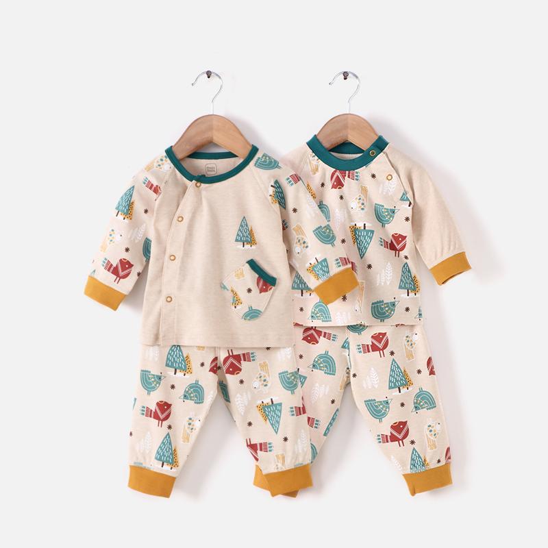 婴儿内衣套装春秋上衣裤子动物男女宝宝秋季家居衣服