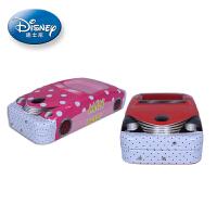 Disney迪士尼 GD18032 颜色图案随机 儿童铅笔盒学生文具盒铁笔盒多功能大容量男女笔袋 当当自营
