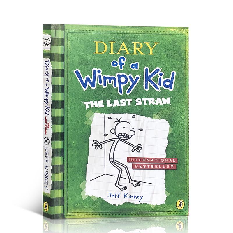小屁孩日记3英文原版进口  Diary of a Wimpy Kid#3 The Last Straw 哭包日记 美国初中小学生推荐课外读物 幽默趣味爆笑漫画章节桥梁书 7-13岁 儿童文学