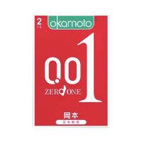 冈本官方旗舰店 001超薄避孕套标准款_【共6片】2盒3只装