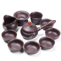 紫砂功夫茶具套装6人家用简约现代普洱泡茶铁观音茶具