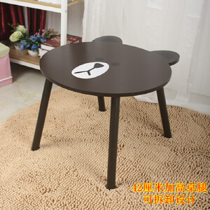 门扉 电脑桌 布朗熊卡通小桌子笔记本床上电脑桌宿舍懒人桌可拆卸飘窗咖啡桌