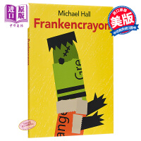 【中商原版】Michael Hall:弗兰肯蜡笔 FRANKENCRAYON 精品绘本 绘本故事书 蜡笔 3~6岁 精装