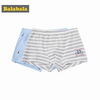 巴拉巴拉童装男童内裤中大童儿童裤头春装2018新款平角裤两件装棉