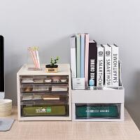 桌面收�{盒�k公室置物架塑料抽�鲜绞占{柜A4文件�A多��ξ镎�理盒