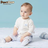 【3件3折 到手价:77】Pawinpaw卡通小熊童装夏款新款男女宝宝同款短袖短裤两件套