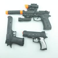 儿童电动玩具枪道具枪冲锋枪宝宝音乐枪小孩3岁声光玩具男孩 M9+道具+3星 【3把+送】 标配