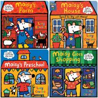 【中商原版】小鼠波波立体游戏操作纸板书4册Maisy's Nursery/Farm/House/Shop亲子互动