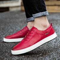 DAZED CONFUSED英伦风商务正装休闲皮鞋2017新款百搭男士韩版潮流低帮青年板鞋