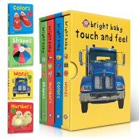 儿童英文原版 Bright Baby Touch and Feel Words/Colors/Numbers/Shapes 触摸书 纸板书 宝宝认知 儿童启蒙 儿童纸板绘本