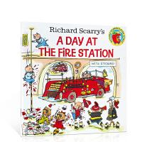 【全店300减100】英文原版绘本 Richard Scarry's a Day at the Fire Station
