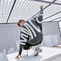 新款个性舒适毛衣男潮流个性宽松蝙蝠袖秋冬韩版套头针织衫外套潮