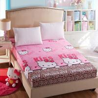 秋冬加厚磨毛床笠床罩席梦思棕垫防尘防滑保护套单件床套