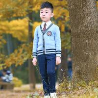 2019 幼儿园园服儿童演出运动班服秋冬新款男女小学生英伦校服学院套装
