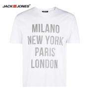 杰克琼斯/JackJones时尚百搭新款T恤 英文字母-2-3-15-216301509023