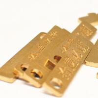 复古黄铜汽车钥匙扣环刻字宠物防丢牌男女情侣腰挂定制创意挂件 黄色