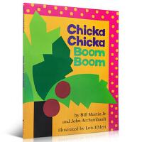 英文原版绘本 廖彩杏 张湘君推荐书单百本 Chicka Chicka Boom Boom 26字母儿童书 叽喀叽喀碰碰