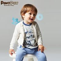 【2件2.5折 到手价:115】Pawinpaw宝英宝卡通小熊童装秋款男女宝宝针织衫婴幼儿卫衣开衫